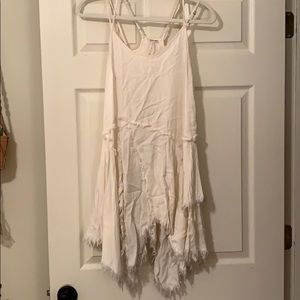 cream free people slip dress